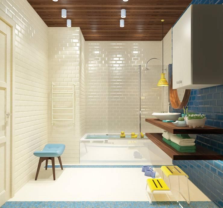 ДЕТСКИЕ САНУЗЛЫ. ПЕНТХАУС: Ванные комнаты в . Автор – Katerina Butenko, Минимализм