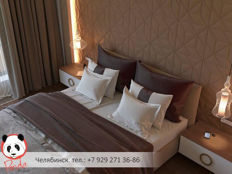 Modern bedroom in the private house: minimalistic Bedroom by Panda Studio