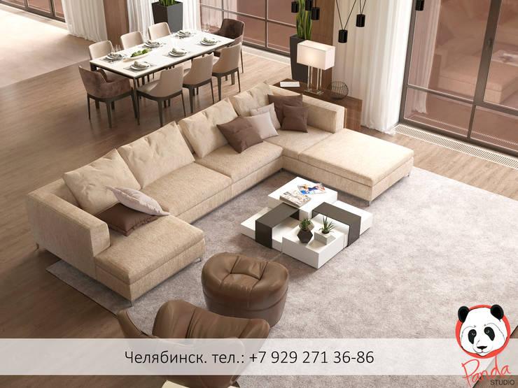 Modern living room: minimalistic Living room by Panda Studio