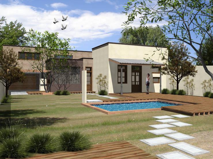 casa ciocastias: Casas de estilo  por laura zilinski arquitecta