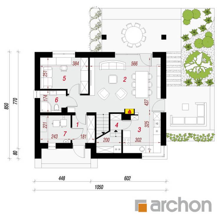 Projekt: Dom w malinówkach: styl , w kategorii  zaprojektowany przez ARCHON+ PROJEKTY DOMÓW