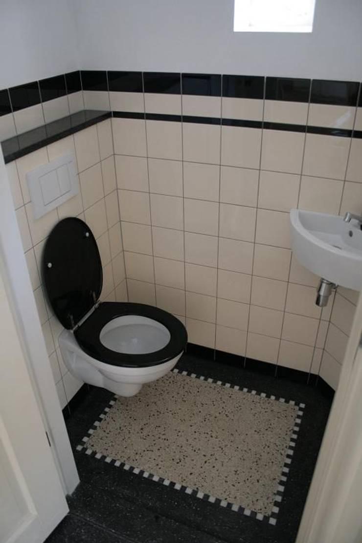 Terrazzo vloertegels Utrecht - www.mawitegels.nl:  Badkamer door MAWI Tegels