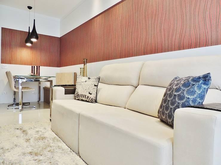 Chácara Inglesa - SP : Salas de estar  por Studio LK Arquitetura e Interiores