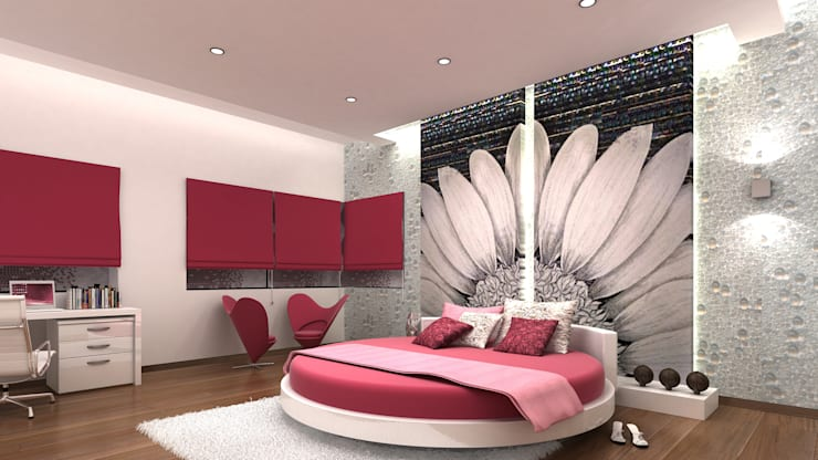 RESIDENTIAL INTERIORS AT TRICHY. (www.depanache.in):  Bedroom by De Panache  - Interior Architects
