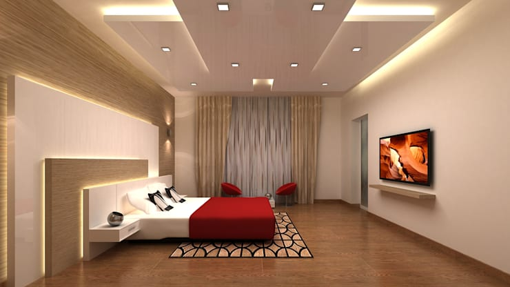 RESIDENTIAL INTERIORS AT TRICHY. (www.depanache.in): modern Bedroom by De Panache  - Interior Architects