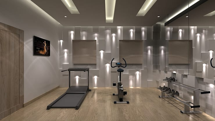 modern Gym by De Panache  - Interior Architects