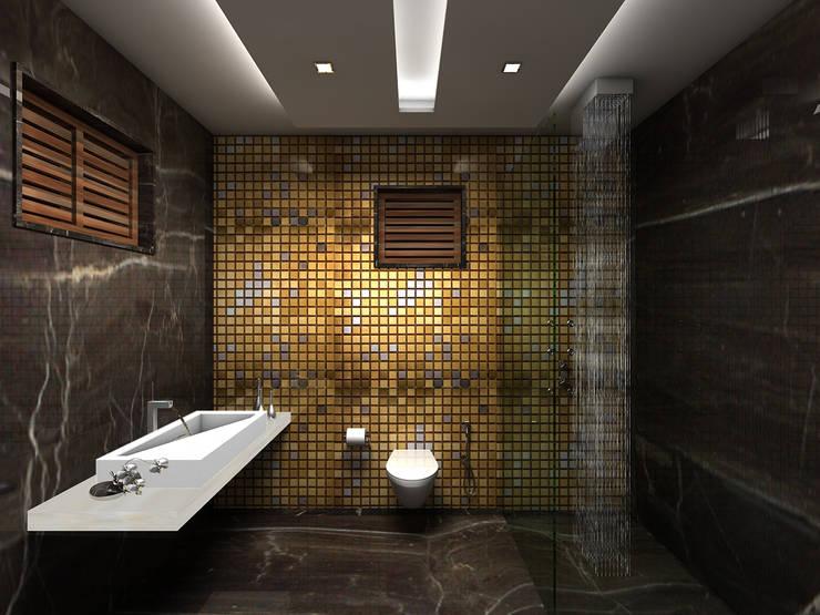 RESIDENTIAL INTERIORS AT TRICHY. (www.depanache.in): modern Bathroom by De Panache  - Interior Architects