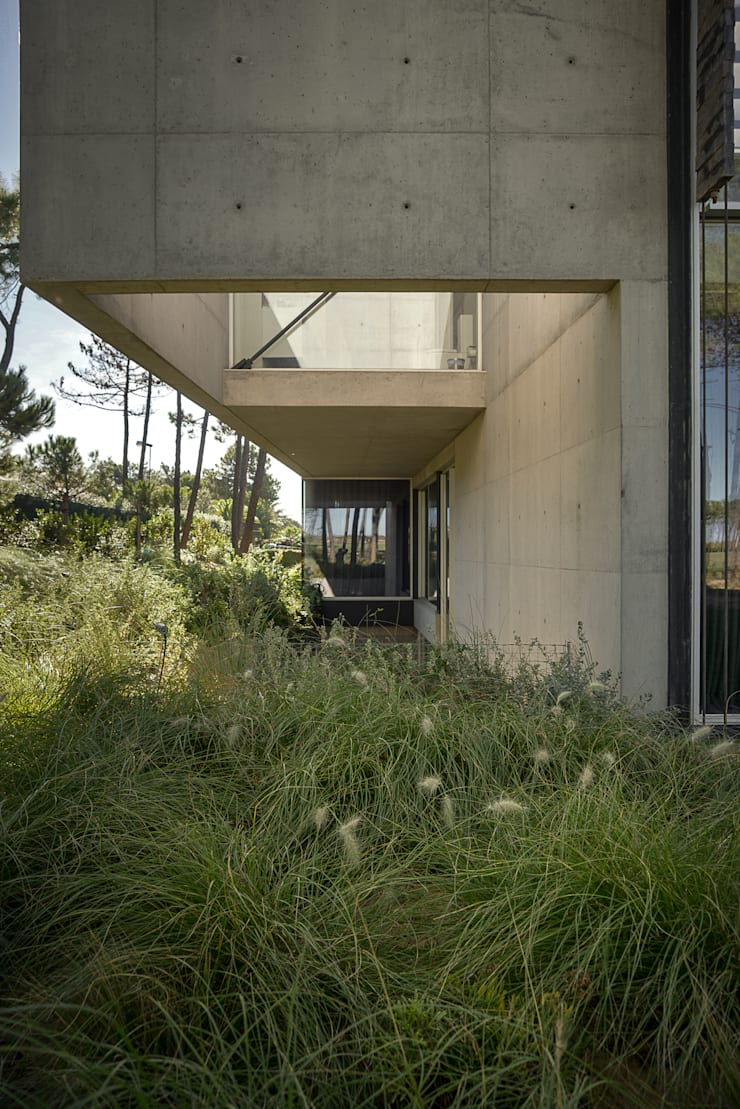 The Wall House: Jardins  por guedes cruz arquitectos