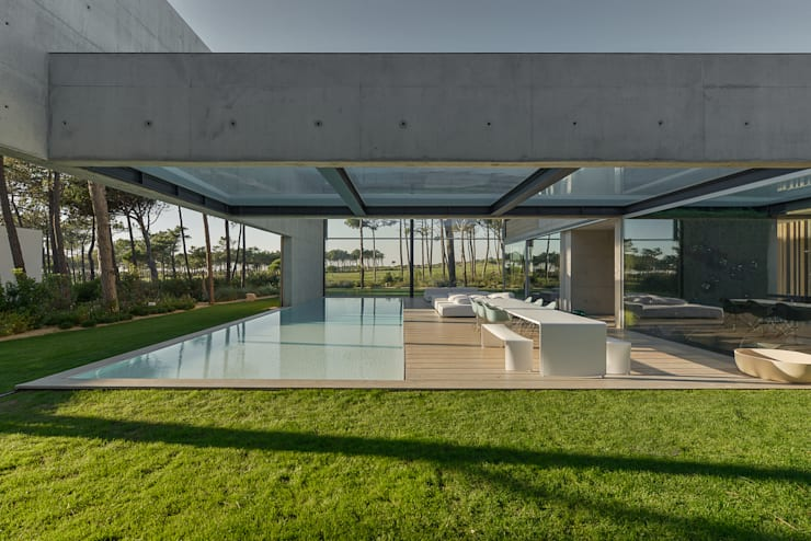 Terrazas de estilo  por guedes cruz arquitectos