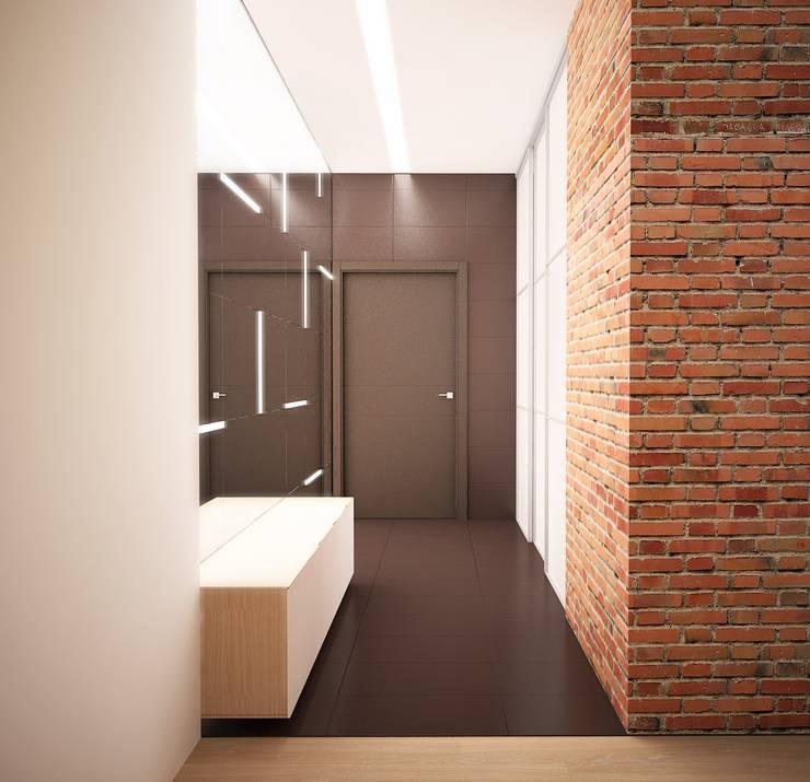 Pasillos, vestíbulos y escaleras de estilo ecléctico de ООО 'Студио-ТА' Ecléctico