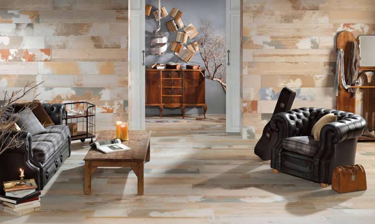 Płytki drewnopodobne Peronda Seawood: styl , w kategorii Salon zaprojektowany przez Kolory Meksyku