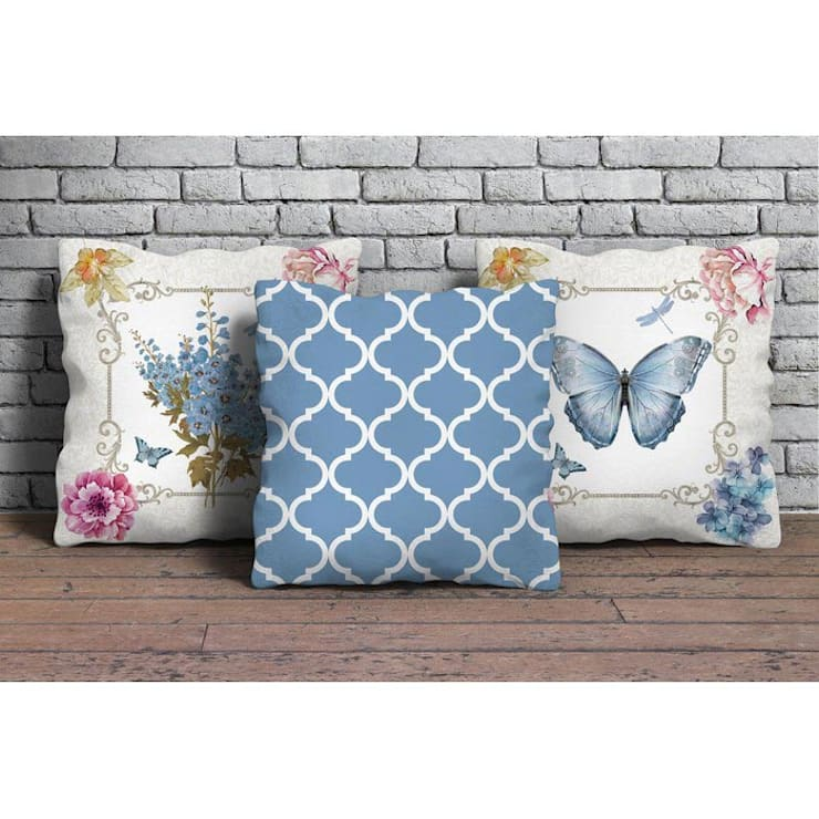 Bakan Tekstil – 3'lü dekoratif yastık seti:  tarz Ev İçi
