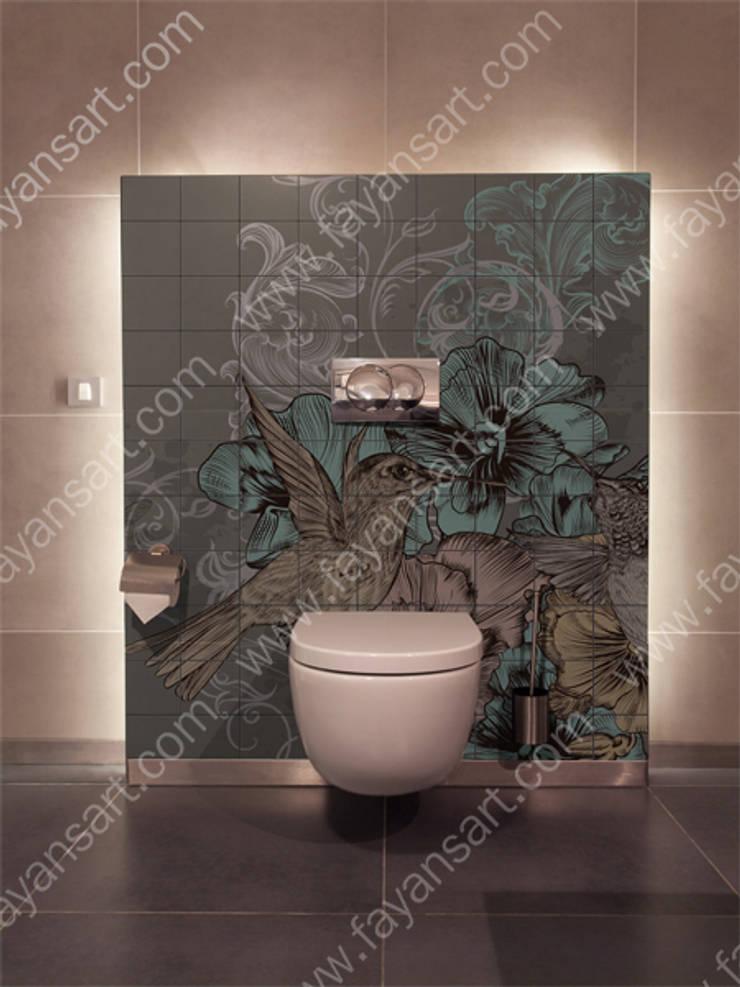 FayansArt – Banyo Duvar Karosu Üzerine Baskı: modern tarz , Modern Seramik