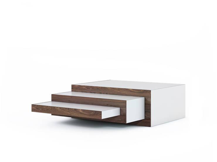 REK salontafel (noten): modern  door Reinier de Jong Design, Modern Hout Hout