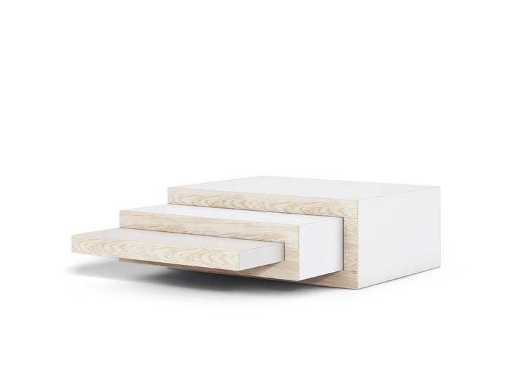 essenhouten salontafel: modern  door Reinier de Jong Design, Modern Hout Hout