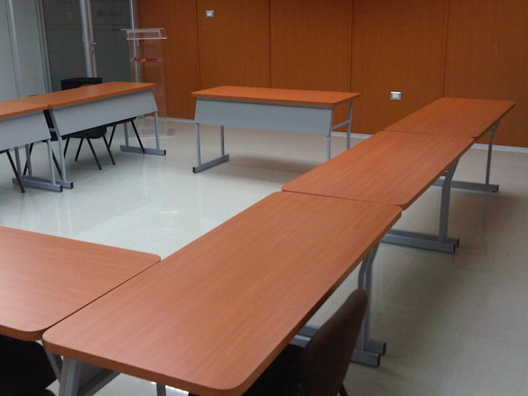 مكاتب ومحلات تنفيذ Forma y Espacio Arquitectos Constructores CA , حداثي خشب معالج Transparent