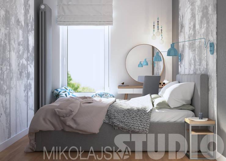 stylowa sypialnia: styl , w kategorii  zaprojektowany przez MIKOŁAJSKAstudio