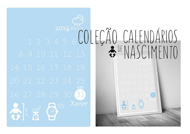 Calendário de nascimento -  Birthday calendar: Quarto de crianças  por MyNest