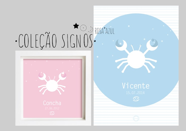 Signos do zodíaco Rosa*Azul - Zodiac signs Pink*Blue: Casa  por MyNest