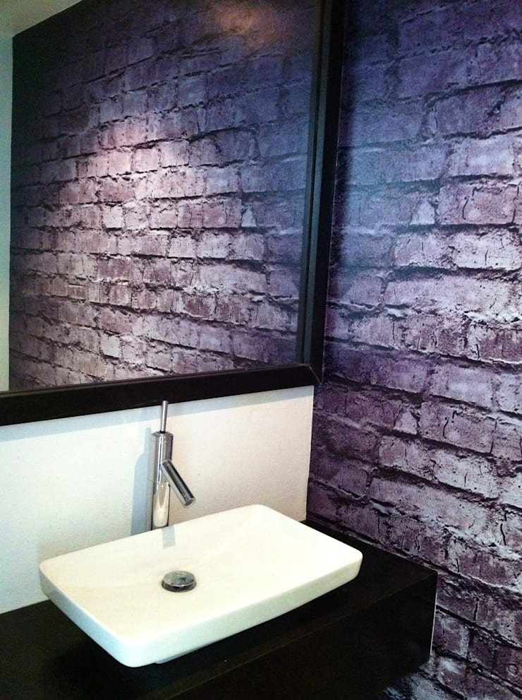 Ladillo en Vinil Adhesivo: Baños de estilo  por Liferoom