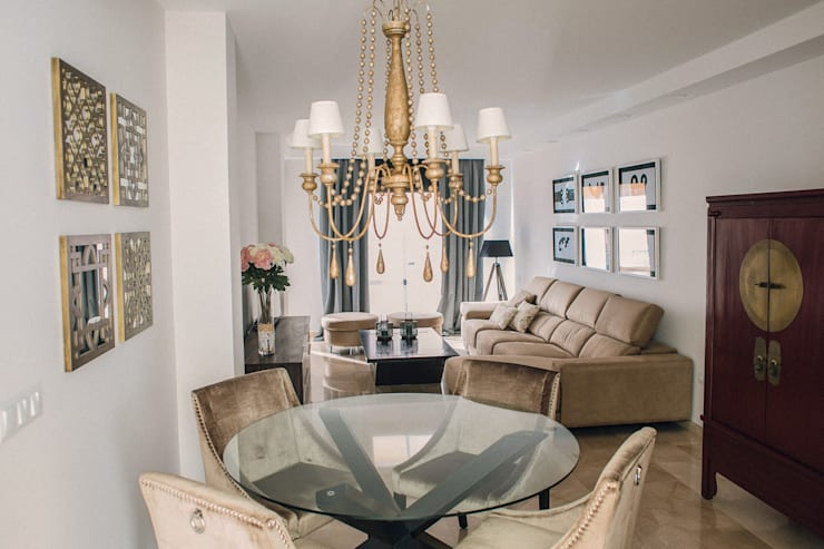 Salas / recibidores de estilo  por JUANCHO GONZALEZ