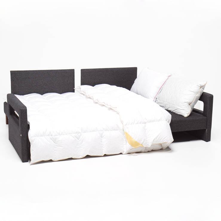 K105 Mobilya Pazarlama Danışmanlık San.İç ve Dış Tic.LTD.ŞTİ. – Comfort Yaşam Serisi Kırmızı Yastıklı Yataklı Kanepe:  tarz Oturma Odası