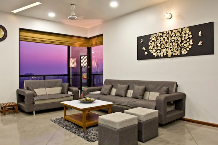 SPARSH: modern Living room by PADARRPAN ARCHITECTS