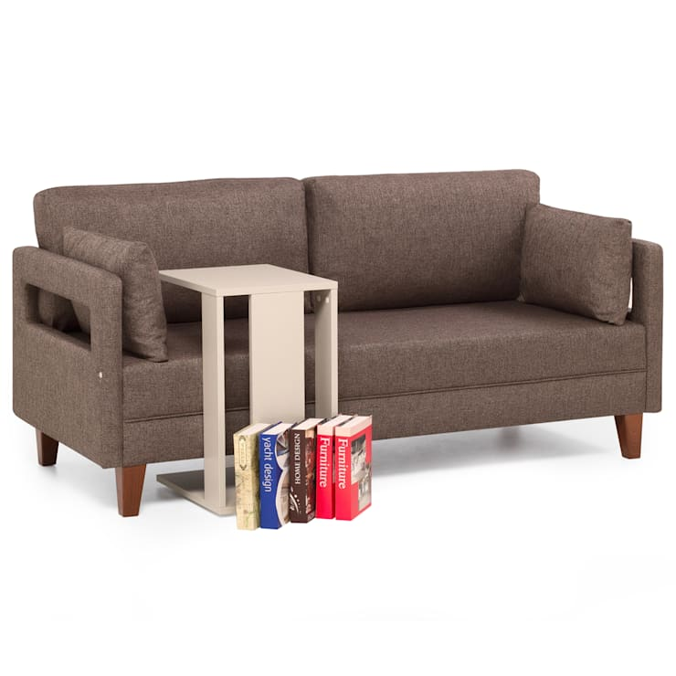 K105 Mobilya Pazarlama Danışmanlık San.İç ve Dış Tic.LTD.ŞTİ. – Comfort Yaşam Serisi 3'lü Yataklı 2'li-1'li Koltuk Takımı: modern tarz Oturma Odası