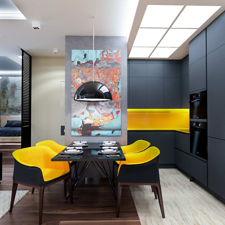 квартира 60 кв метров: Кухни в . Автор – INTERIERIUM