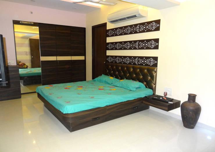 Mr. Pramod Joshi: modern Bedroom by UNIQUE DESIGNERS & ARCHITECTS