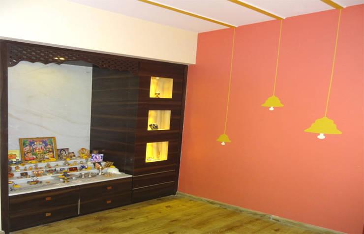 Mr. Pramod Joshi: modern Living room by UNIQUE DESIGNERS & ARCHITECTS