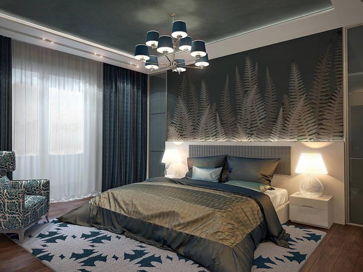 дизайн интерьра квартиры 120 кв.м.: Спальни в . Автор – INTERIERIUM