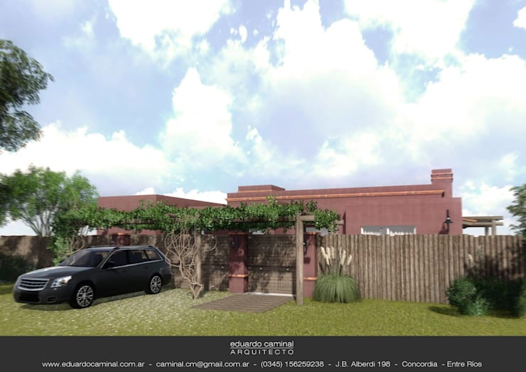 Casa Barrio Donovan II: Casas de estilo  por Eduardo Caminal Arquitectura