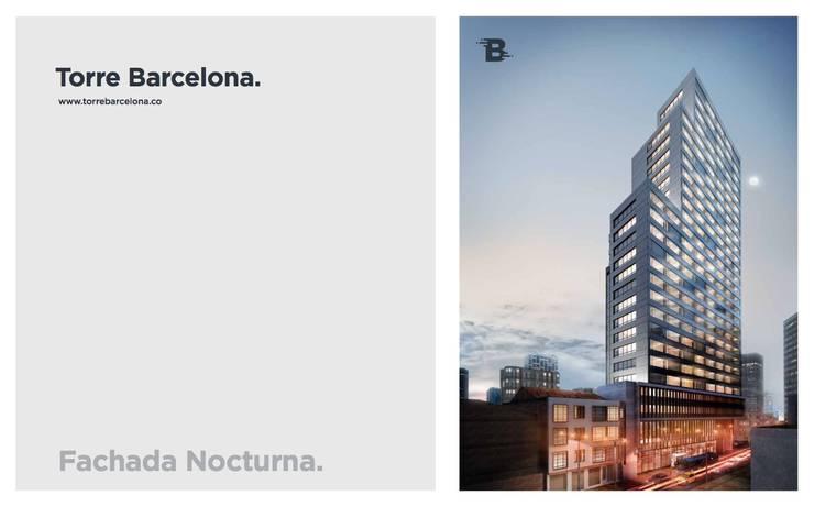 Torre Barcelona: Casas de estilo  por HMA Desarrolladores De Proyectos