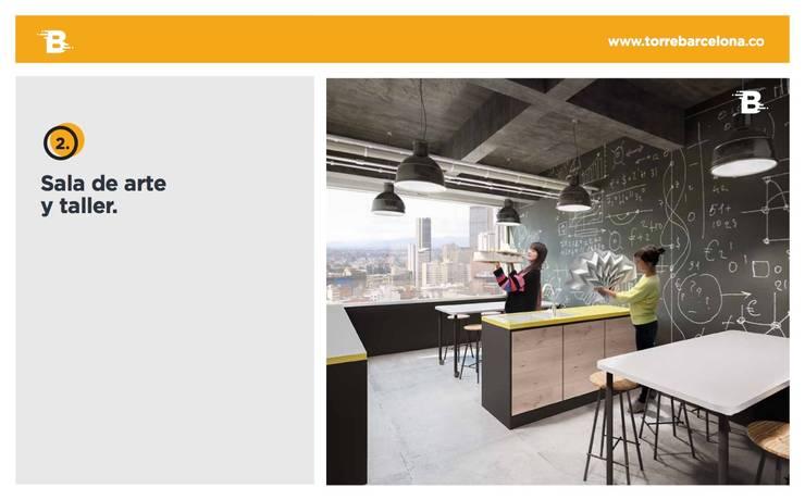 Torre Barcelona: Estudios y despachos de estilo  por HMA Desarrolladores De Proyectos