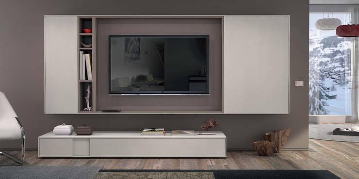Salas de estar Living rooms : Sala de estar  por Intense mobiliário e interiores;