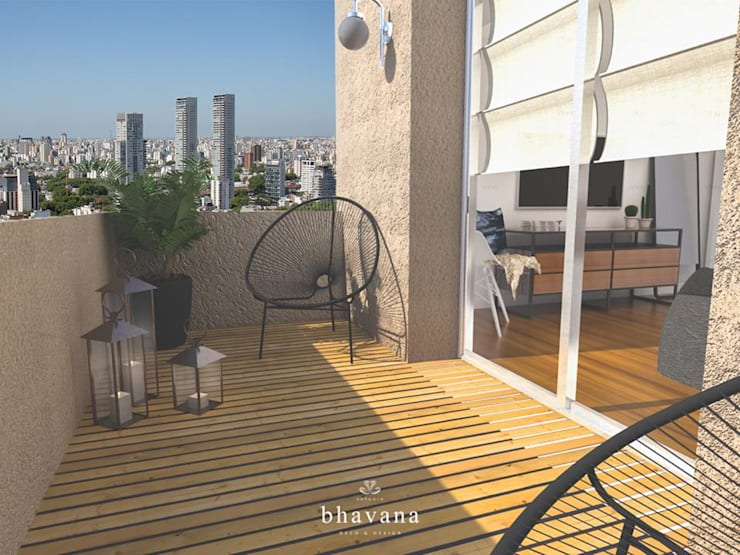 Balcón: Terrazas de estilo  por Bhavana