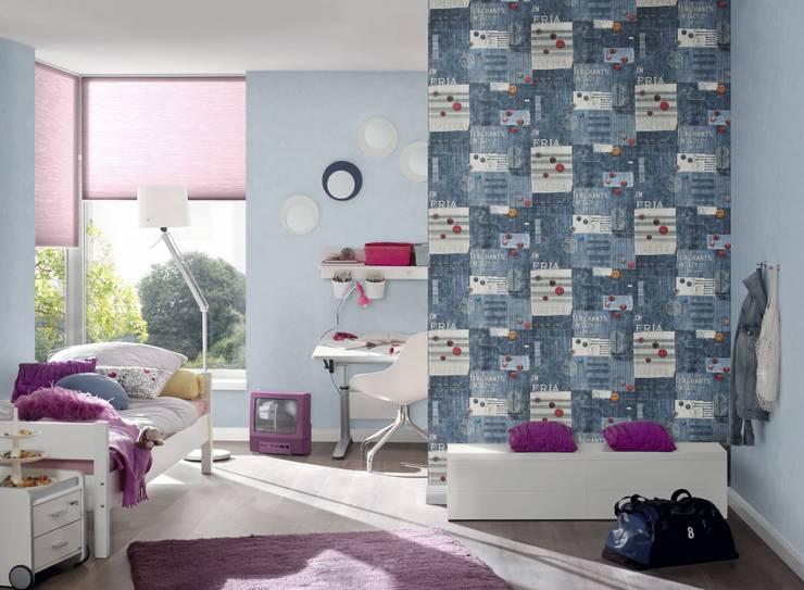 """York Wallcoverings """"Boys & Girls"""": Paredes y pisos de estilo  por Escuadra Arquitectura C.A"""