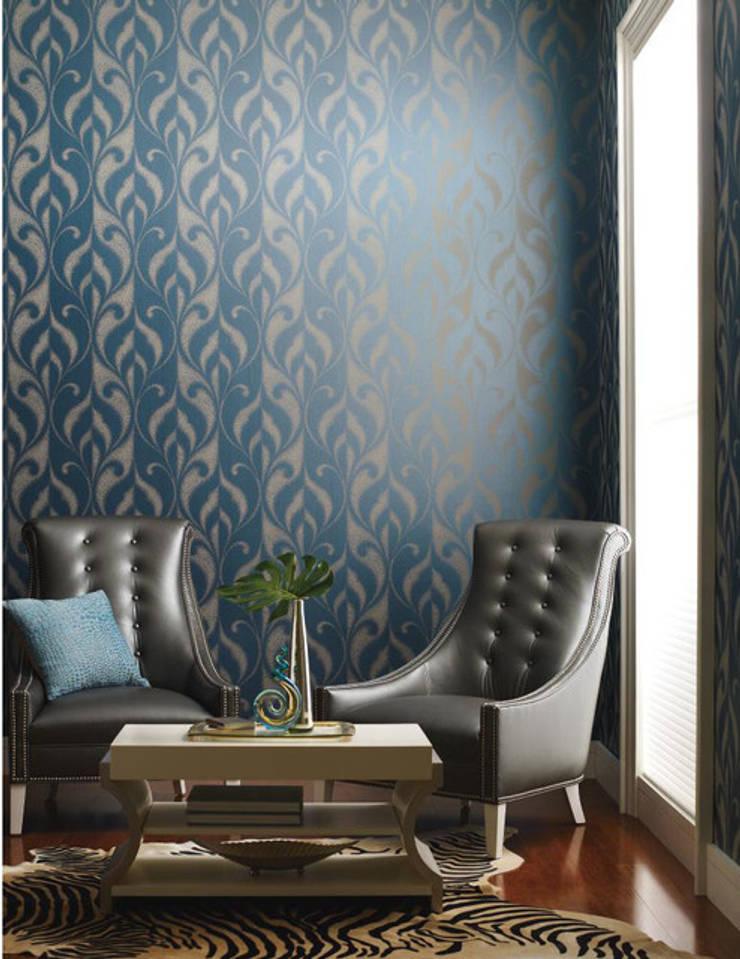 "Candice Olson ""Modern Luxe"": Paredes y pisos de estilo  por Escuadra Arquitectura C.A"