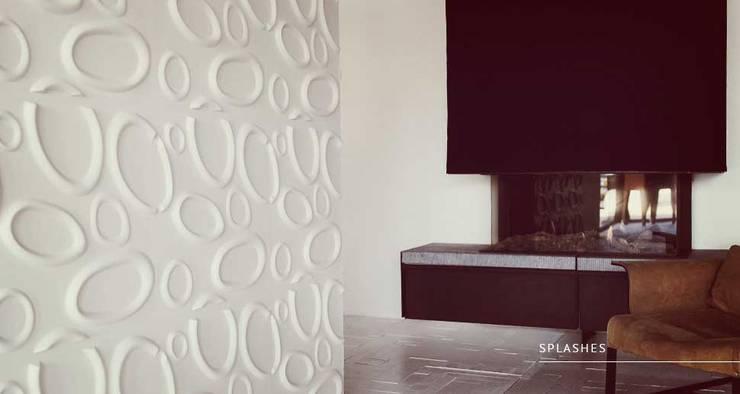 Splashes: Paredes y pisos de estilo  por Escuadra Arquitectura C.A