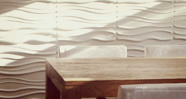 Sands: Paredes y pisos de estilo  por Escuadra Arquitectura C.A