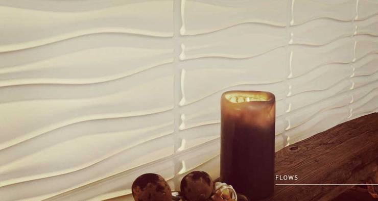 Flows: Paredes y pisos de estilo  por Escuadra Arquitectura C.A