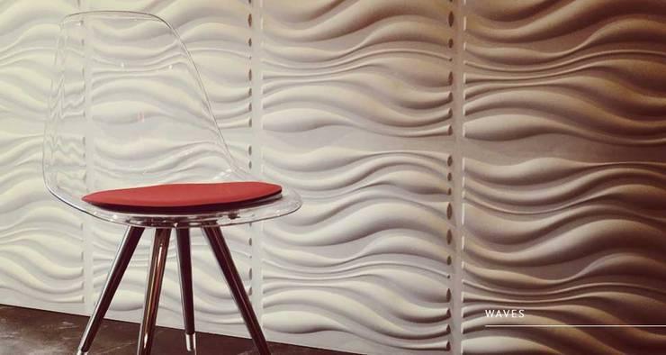 Waves: Paredes y pisos de estilo  por Escuadra Arquitectura C.A