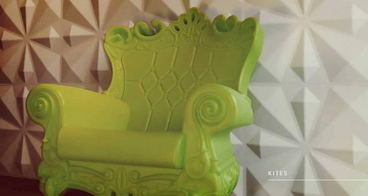 Kites: Paredes y pisos de estilo  por Escuadra Arquitectura C.A