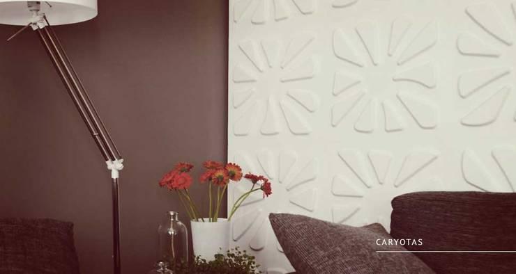 Caryotas: Paredes y pisos de estilo  por Escuadra Arquitectura C.A