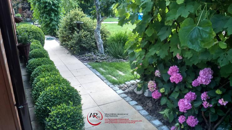 Jardines de estilo clásico de PRACOWNIA ARANŻACJA ANNA RYPLEWSKA Clásico
