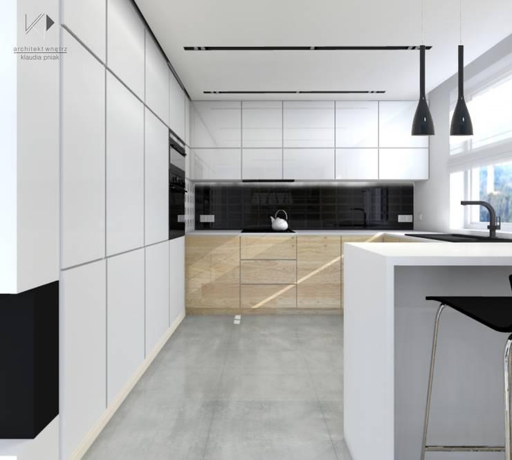 Kuchnia : styl , w kategorii  zaprojektowany przez Architekt wnętrz Klaudia Pniak