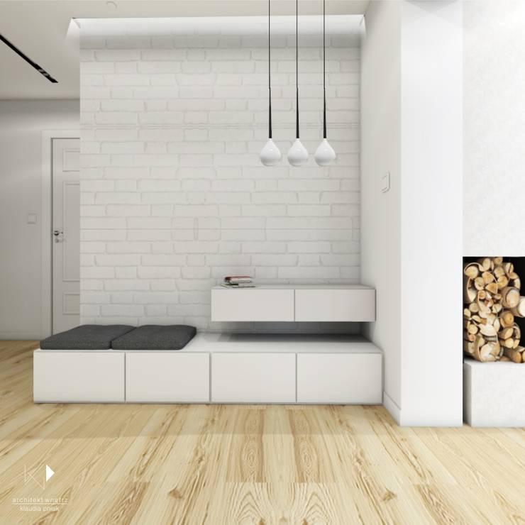 Przedpokój : styl , w kategorii  zaprojektowany przez Architekt wnętrz Klaudia Pniak