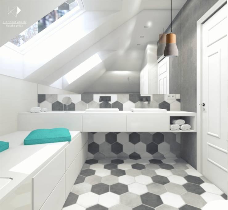 Łazienka rodzinna: styl , w kategorii  zaprojektowany przez Architekt wnętrz Klaudia Pniak