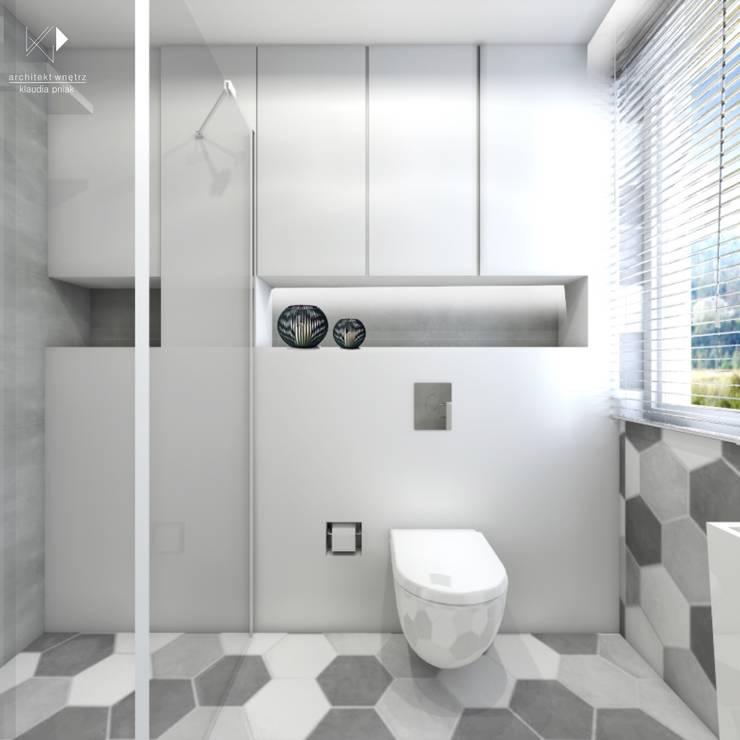 Łazienka gościnna: styl , w kategorii  zaprojektowany przez Architekt wnętrz Klaudia Pniak